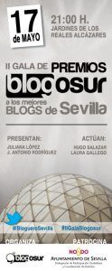 Cartel II Gala Premios Blogosur