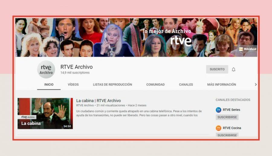 El canal RTVE Archivo de Youtube, muy pobre para esconder tanta historia